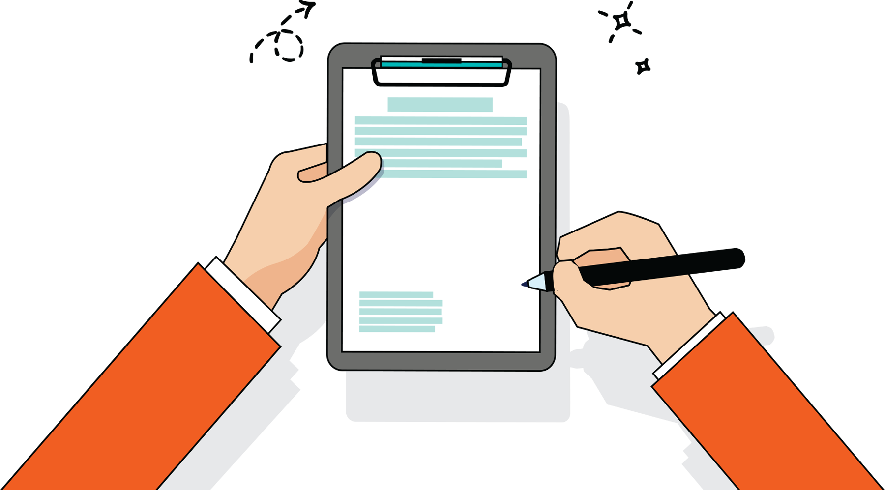clipart of writing on a clipboard